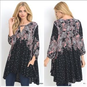 Jodifl Black Printed Tunic